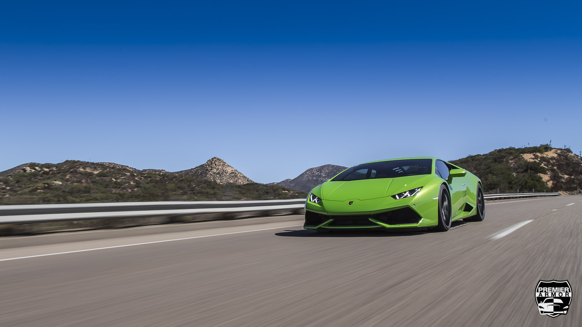 Lamborghini Huracan Window Tint Action Photo